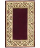 RugStudio presents Kas Ruby Floral Border Ruby 8979 Hand-Tufted, Good Quality Area Rug