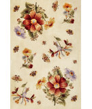 RugStudio presents Kas Ruby 8881 Ivory Hand-Tufted, Good Quality Area Rug