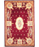 RugStudio presents Kas Ruby Fleur-De-Lis Aubusson Ruby 8900 Hand-Tufted, Good Quality Area Rug