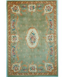 RugStudio presents Kas Ruby Fleur-De-Lis Aubusson Sage 8902 Hand-Tufted, Good Quality Area Rug