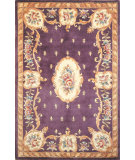 RugStudio presents Kas Ruby Fleur-De-Lis Aubusson Plum 8903 Hand-Tufted, Good Quality Area Rug