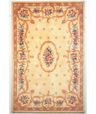 RugStudio presents Kas Ruby Fleur-De-Lis Aubusson Ivory 8904 Hand-Tufted, Good Quality Area Rug