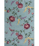 RugStudio presents KAS Ruby 8919 Blue Floral Vines Hand-Tufted, Good Quality Area Rug