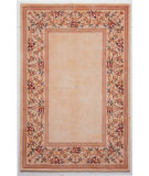 RugStudio presents Kas Ruby Floral Border Ivory 8928 Hand-Tufted, Good Quality Area Rug