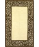 RugStudio presents KAS Sahara Leopard Border Ivory-Coffee 4403 Hand-Tufted, Good Quality Area Rug