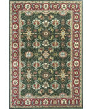 RugStudio presents KAS Shiraz 5005 Emerald/Red Mahal Machine Woven, Good Quality Area Rug