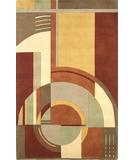 RugStudio presents Kas Signature Art Deco Rust-Coffee 9134 Hand-Tufted, Best Quality Area Rug