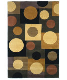 RugStudio presents Kas Signature Circles Earthtone 9087 Hand-Tufted, Best Quality Area Rug