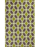 RugStudio presents Kas Solstice 4007 Citron / Taupe Woven Area Rug