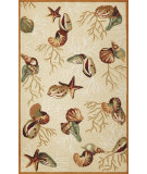 RugStudio presents Rugstudio Sample Sale 69320R Beige Hand-Hooked Area Rug