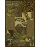 RugStudio presents Kas Sparta Bedrock Mocha-Sage 3106 Hand-Tufted, Better Quality Area Rug