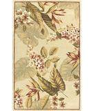 RugStudio presents Kas Sparta Flora Ivory 3155 Hand-Tufted, Better Quality Area Rug
