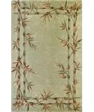 RugStudio presents Kas Sparta Bamboo Double Border Sage 3161 Hand-Tufted, Better Quality Area Rug