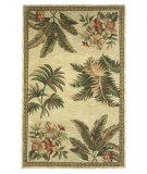 RugStudio presents Kas Sparta Tropical Oasis Ivory 3133 Hand-Tufted, Better Quality Area Rug