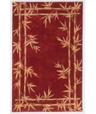 RugStudio presents Kas Sparta Bamboo Border Red 3145 Hand-Tufted, Better Quality Area Rug