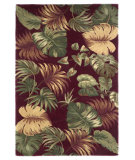 RugStudio presents Kas Sparta Palm Leaves Red 3149 Hand-Tufted, Better Quality Area Rug