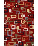 RugStudio presents KAS Tate Retro Frames 8505 Ruby Machine Woven, Good Quality Area Rug