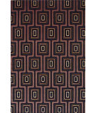 RugStudio presents KAS Tate City Grid 8510 Black Machine Woven, Good Quality Area Rug