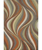 RugStudio presents KAS Tate Waves 8515 Earthtone Machine Woven, Good Quality Area Rug