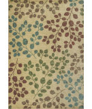 RugStudio presents KAS Zen 5053 Sand Foliage Machine Woven, Good Quality Area Rug