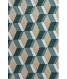 RugStudio presents KAS Zolo 3903 Sand/Seafoam Dimensions Hand-Tufted, Good Quality Area Rug