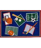 RugStudio presents Fun Rugs Fun Time Sports A Rama BBB-001 Multi Machine Woven, Good Quality Area Rug