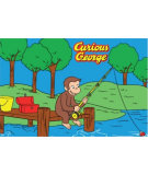 RugStudio presents Fun Rugs Curious George George Fishing CG-01 Machine Woven, Good Quality Area Rug
