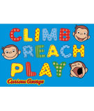 RugStudio presents Fun Rugs Curious George George Climb - Reach - Play CG-02 Machine Woven, Good Quality Area Rug