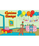 RugStudio presents Fun Rugs Curious George Birthday CG-03 Machine Woven, Good Quality Area Rug