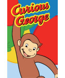 RugStudio presents Fun Rugs Curious George Happy George CG-04 Machine Woven, Good Quality Area Rug