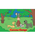 RugStudio presents Fun Rugs Curious George George and Friends CG-05 Machine Woven, Good Quality Area Rug