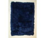 RugStudio presents Fun Rugs Flokati DARK BLUE FLK-001 Dark Blue Area Rug