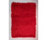 RugStudio presents Fun Rugs Flokati RED FLK-002 Red Area Rug