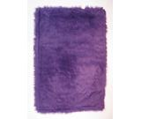 RugStudio presents Fun Rugs Flokati PURPLE FLK-009 Purple Area Rug
