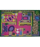 RugStudio presents Fun Rugs Fun Time Dollhouse FT-057 Multi Machine Woven, Good Quality Area Rug