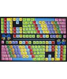 RugStudio presents Fun Rugs Fun Time Keyboard FT-100 Multi Machine Woven, Good Quality Area Rug