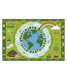 RugStudio presents Fun Rugs Fun Time Go Green FT-101 Multi Machine Woven, Good Quality Area Rug