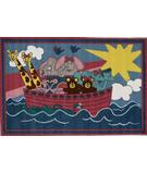 RugStudio presents Fun Rugs Fun Time Noah's Ark FT-104 Multi Machine Woven, Good Quality Area Rug