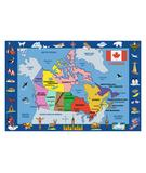 RugStudio presents Fun Rugs Fun Time Map of Canada FT-132 Multi Machine Woven, Good Quality Area Rug