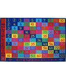 RugStudio presents Fun Rugs Fun Time Multiplication FT-143 Multi Machine Woven, Good Quality Area Rug