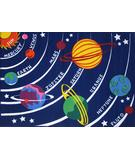 RugStudio presents Fun Rugs Fun Time Solar System FT-170 Multi Machine Woven, Good Quality Area Rug