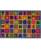 RugStudio presents Fun Rugs Fun Time Numbers & Letters FT-2011-P Multi Machine Woven, Good Quality Area Rug