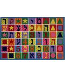 RugStudio presents Fun Rugs Fun Time Hebrew Numbers & Letters FT-500 Multi Machine Woven, Good Quality Area Rug
