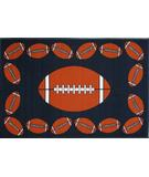 RugStudio presents Fun Rugs Fun Time FOOTBALL TIME FT-92 Multi Machine Woven, Good Quality Area Rug
