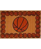RugStudio presents Fun Rugs Fun Time BASKETBALL TIME FT-93 Multi Machine Woven, Good Quality Area Rug
