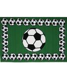 RugStudio presents Fun Rugs Fun Time SOCCER TIME FT-94 Multi Machine Woven, Good Quality Area Rug