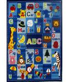 RugStudio presents Fun Rugs Fun Time Letters & Names FT-95 Multi Machine Woven, Good Quality Area Rug