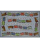 RugStudio presents Fun Rugs Fun Time Edu Train FT-96 Multi Machine Woven, Good Quality Area Rug