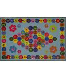 RugStudio presents Fun Rugs Fun Time Happy Learning FT-97 Multi Machine Woven, Good Quality Area Rug