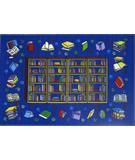 RugStudio presents Fun Rugs Fun Time Reading Time FT-98 Multi Machine Woven, Good Quality Area Rug